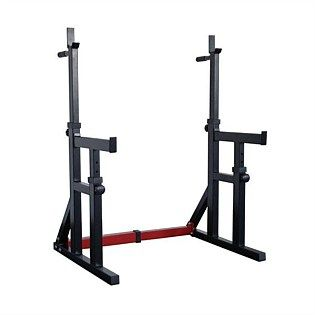 IP Squat Rack/Dip Stand w/ Spotters