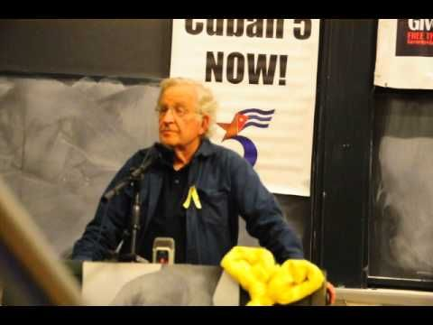 Noam Chomsky speaks on the Real Story of the Cuban 5 at MIT