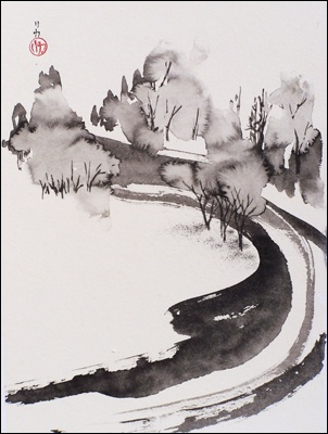 Frederica Marshall, Japanese Sumi-e Oriental Brush Painting and Watercolor Master Teacher and Fine Artist