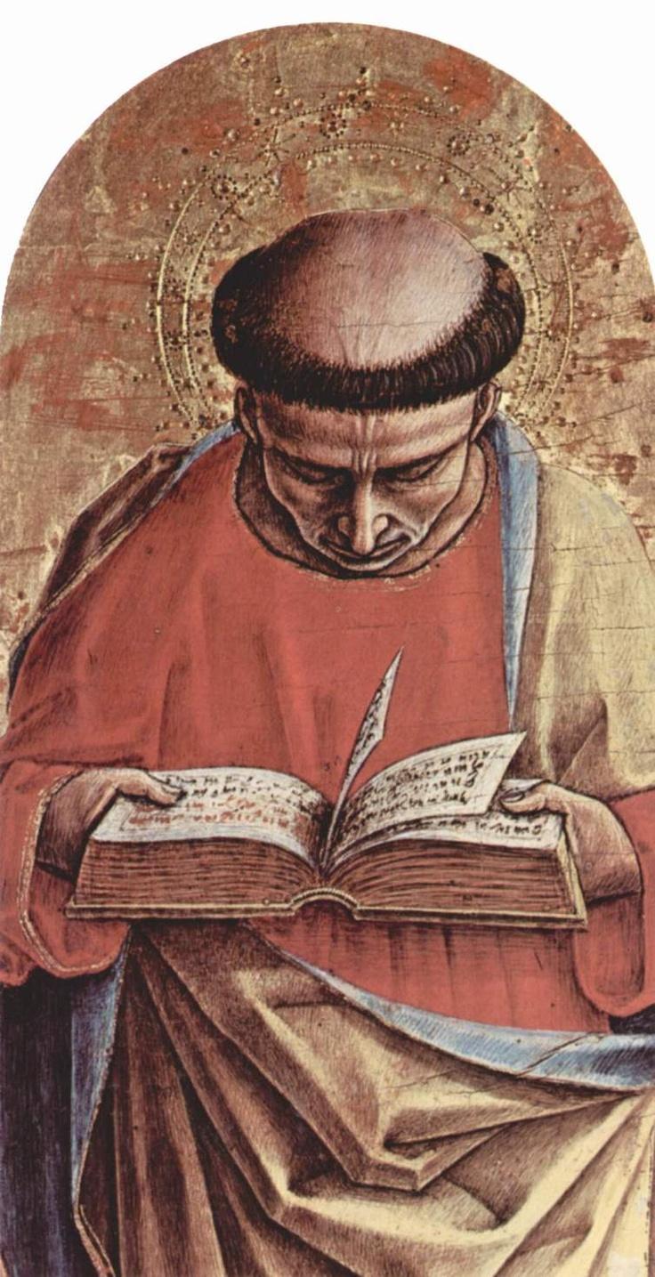 CARLO CRIVELLI (1435 – 1495) - Polittico di Sant'Emidio -  San Bartolomeo (dettaglio). Cattedrale di Sant'Emidio, Ascoli.