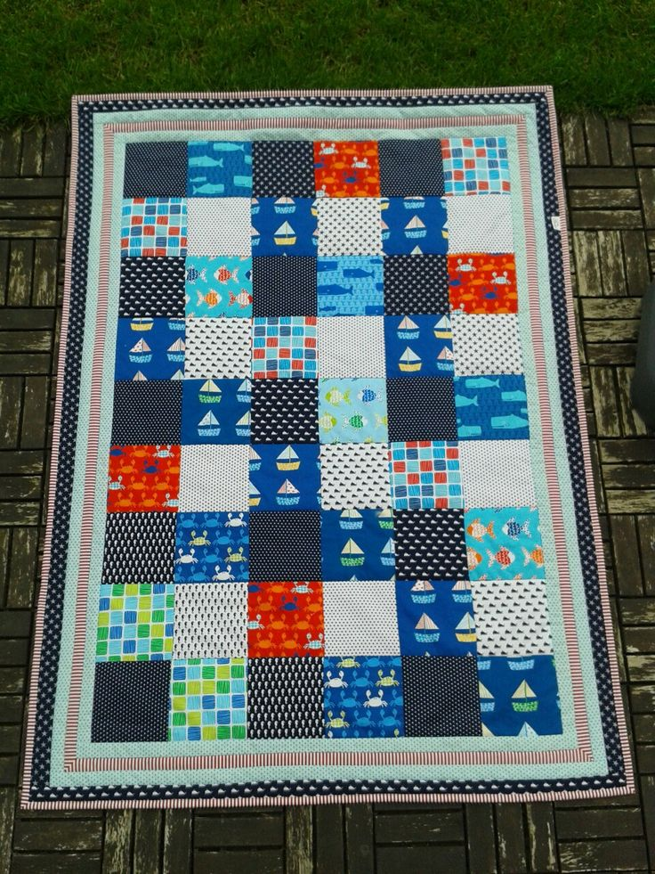 Blanket for a small sailor