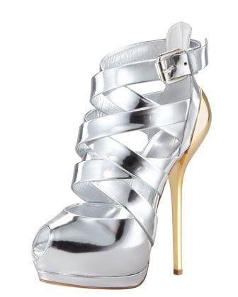 Giuseppe Zanotti Metallic Strappy Sandal [CELE15001] - $232.00 : Discounted Christian Louboutin,Jimmy Choo,Valentino Shoes Online store