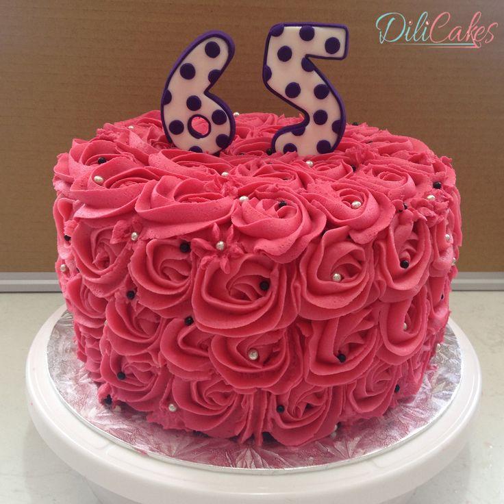 #rosette #rose #rosecake #rosettecake #65 #65cake #prettycake #dilicakes