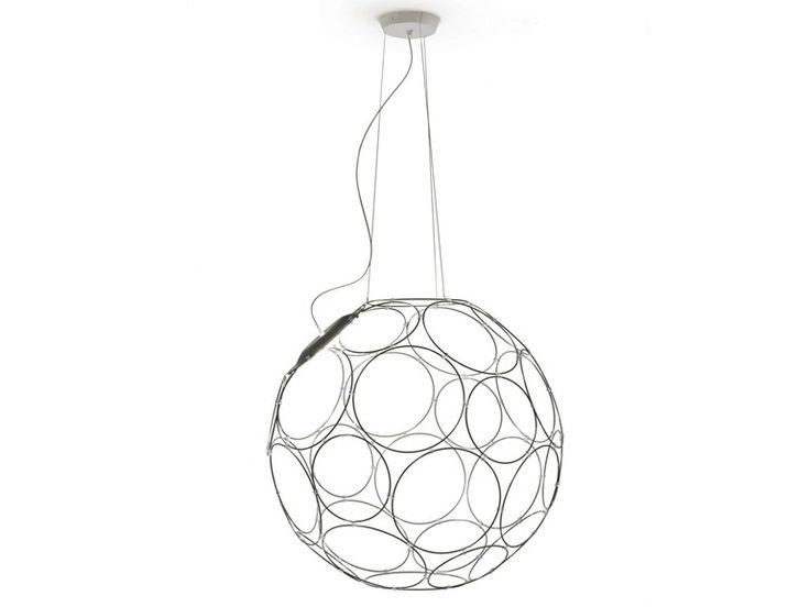 LED steel pendant lamp GIRO by Fabbian   design Formfjord