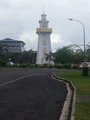 The famous clock in Apia Samoa