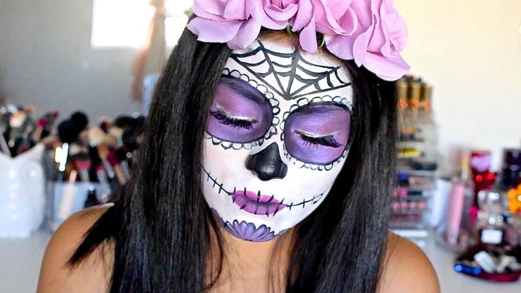 Halloween Makeup Tutorial: Purple Sugar Skull