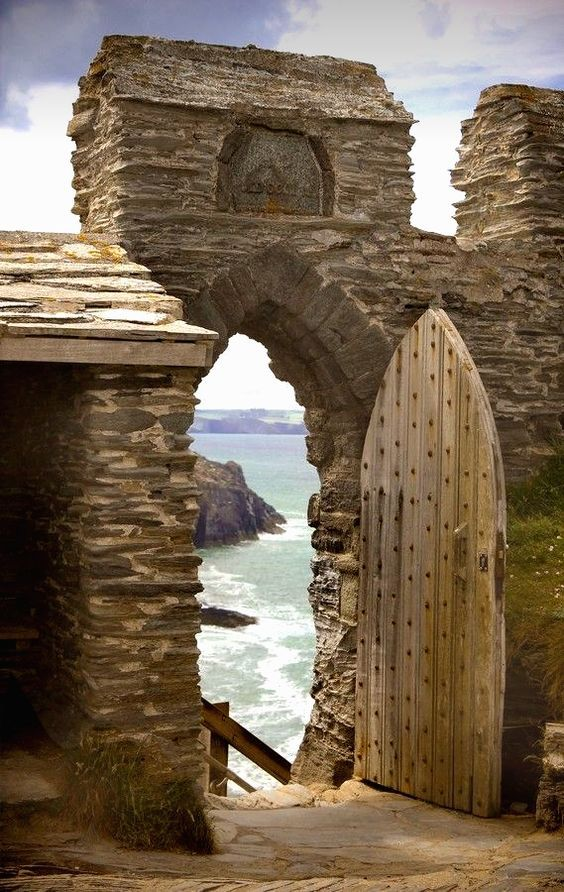What's left of the Tintagel Castle in Cornwall, England.