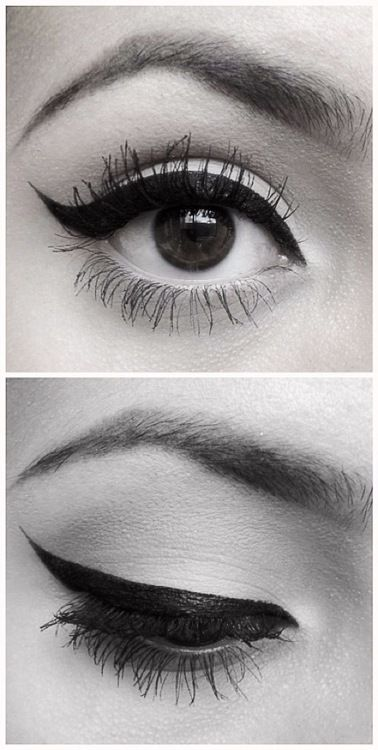 Perfect winged eyeliner.