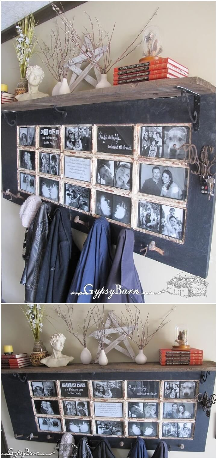 Recycle an Old Door into an Entryway Organizer Picture Frame