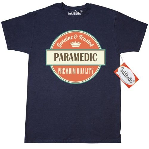 Inktastic Paramedic Funny Gift Idea T-Shirt Retired Occupations Job Vintage Logo Clothing Classic Career Mens Adult Apparel Tees T-shirts Hws, Size: Small, Blue