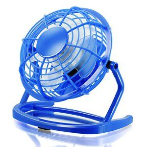 CSL - Mini Ventilateur USB   Mini ventilateur de bureau / Fan   pour ordinateur / ordinateur portable   bleu