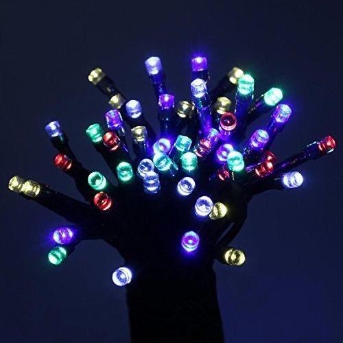 Multicolored LED Christmas Lights Solar Powered Outside Lights Trees Buildings #MulticoloredLEDs