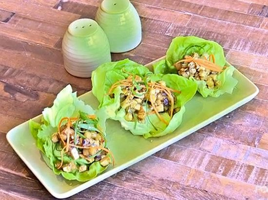 Dr. Weil's Tofu Lettuce Cups: Dr. Weil's True Food Kitchen recipe for Shiitake tofu lettuce cups are chock full of antioxidants and help fight PMS.