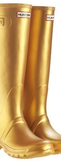 gold Hunter wellies