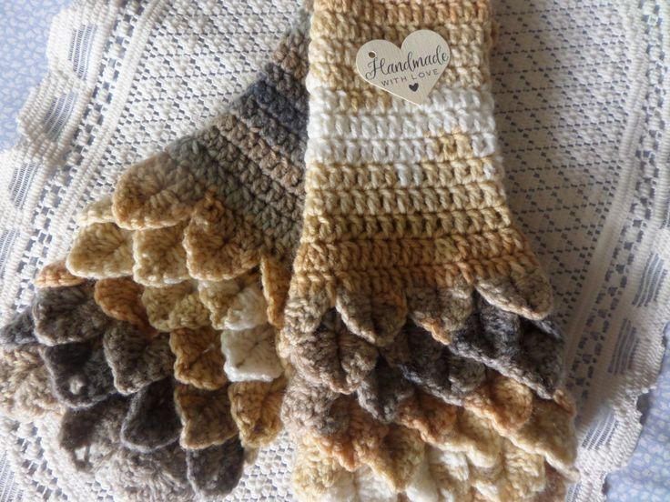 fingerless gloves, wristwarmer gloves, winter accessory, fingerless mittens, autumn gloves, crocodile stitch, winter gloves hand crochet by MaddisonsRainbow on Etsy
