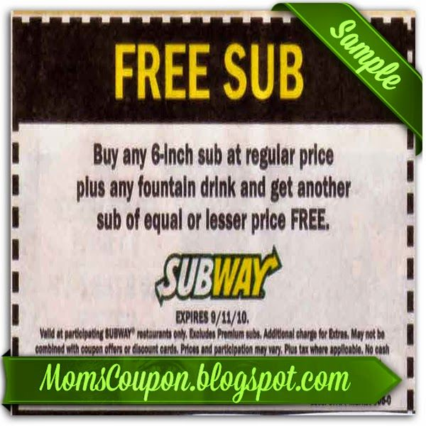printable Subway coupon for January