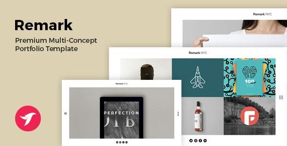 REMARK - Multi Concept Portfolio & Agency Template
