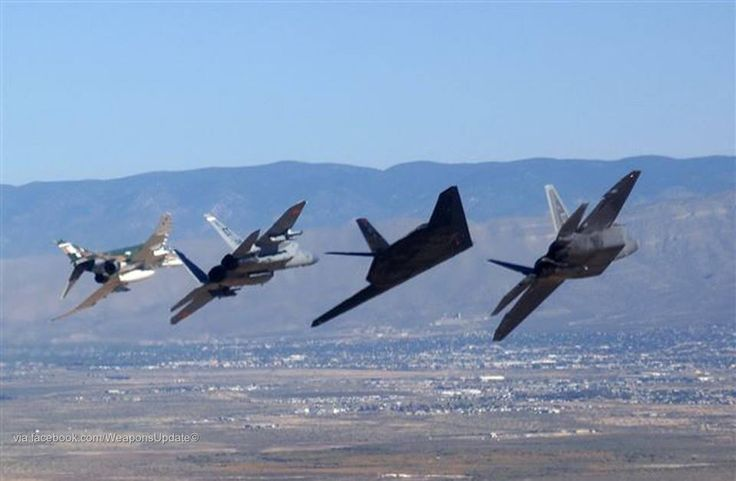 F4 Phantom, F15 Eagle, F117 Nighthawk, F22 Raptor. And the phantom can fly faster than all of them, except for maybe the Raptor. However, it's not very stealthy. It roars, and smokes like a fiend!