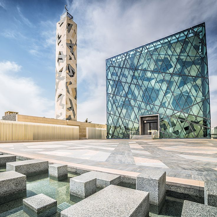 KAPSARC | Riyadh, Saudi Arabia | The community masjid, or mosque, is the spiritual center of the King Abdullah Petroleum Studies and Research Center's residential development.