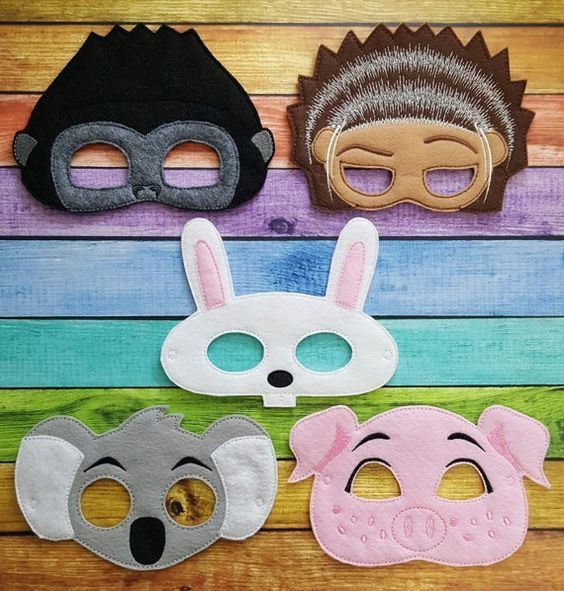 Sing Felt Masks * Birthday Parties, Party Favors, Playtime