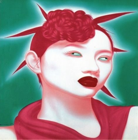Contemporary Chinese Artist Feng Zhengjie, Chinese Portrait Series on ArtStack #feng-zhengjie #art