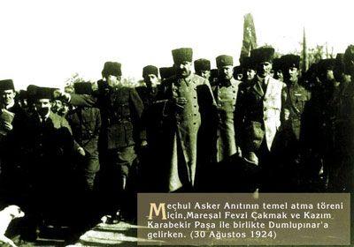 Atatürk, Fevzi Çakmak ve Kazım Karabekir (Dumlupınar 1924)