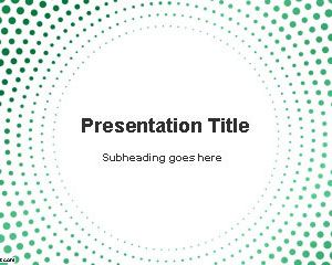 Circular Dots PowerPoint Template is a simple PPT template slide with green circular dots and white background