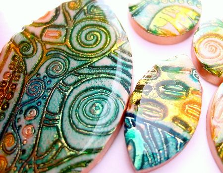 Batik and Shimmer Jewelry Tutorial