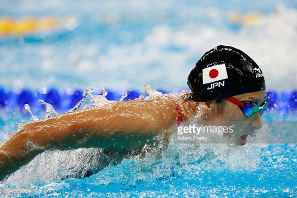 Rikako Ikee of Japan competes in the Women's 100m Butterfly heat 6 on Day 1 of…
