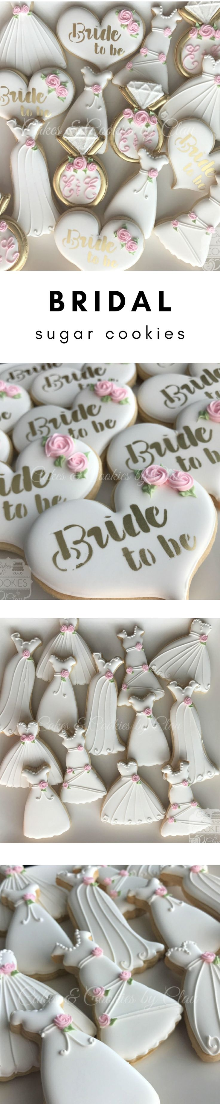 Garden Party Bridal Shower Hand Decorated Custom Cookies #affiliate