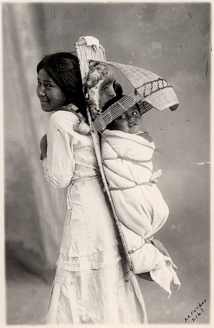 Paiute girl and baby #nativeamericans #native #americans