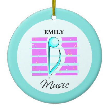 Congratulations Note Musical Performance Ceramic Ornament - pink gifts style ideas cyo unique