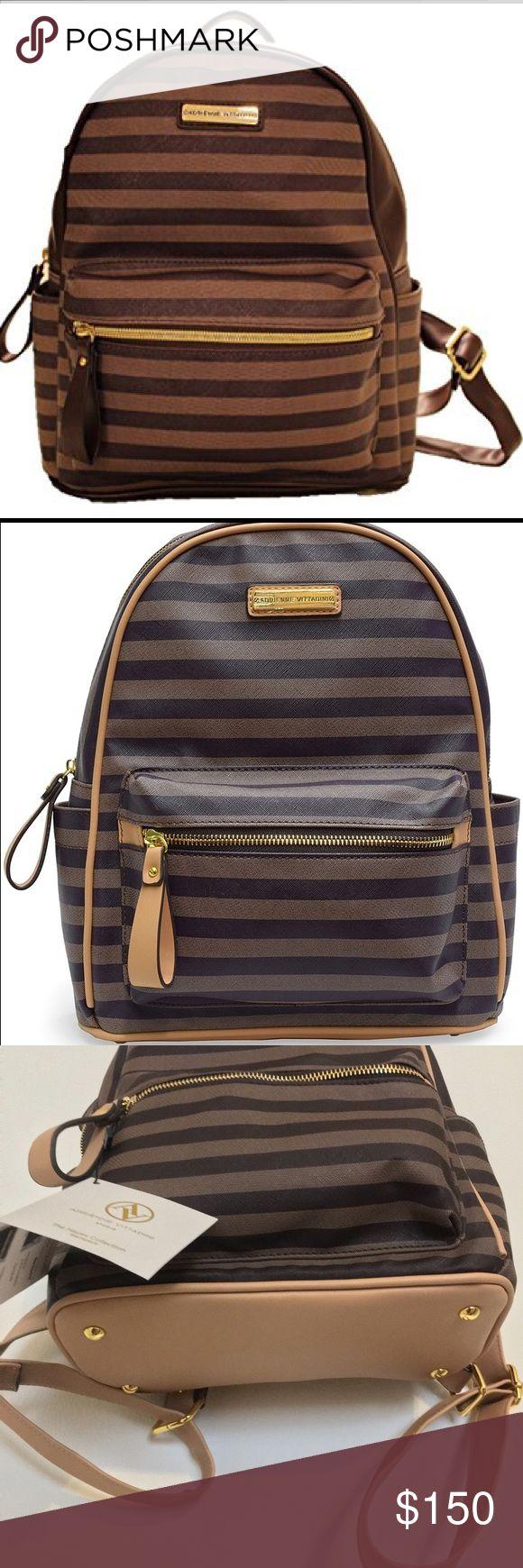 Stripe Backpack  Brand New striped backpack Adrienne Vittadini Bags Backpacks