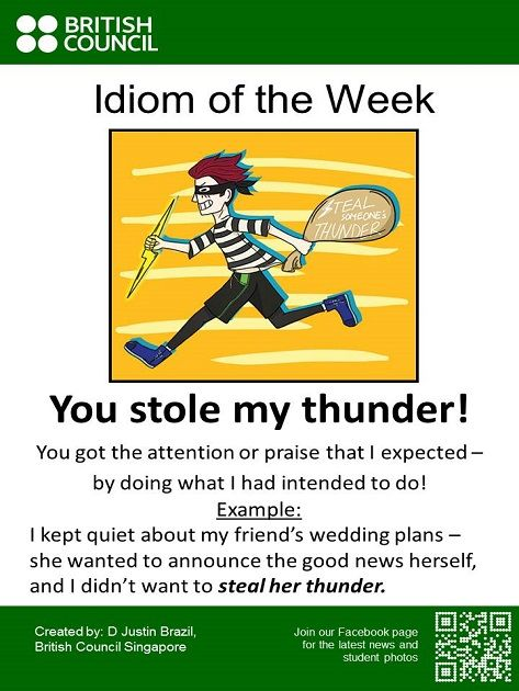 Learn an #Idiom every week.