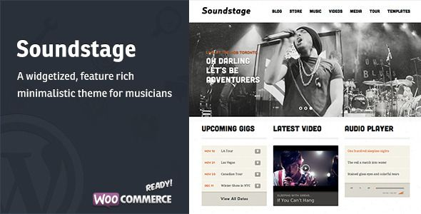 Soundstage - WordPress Theme For Bands/Musicians  - Entertainment WordPress
