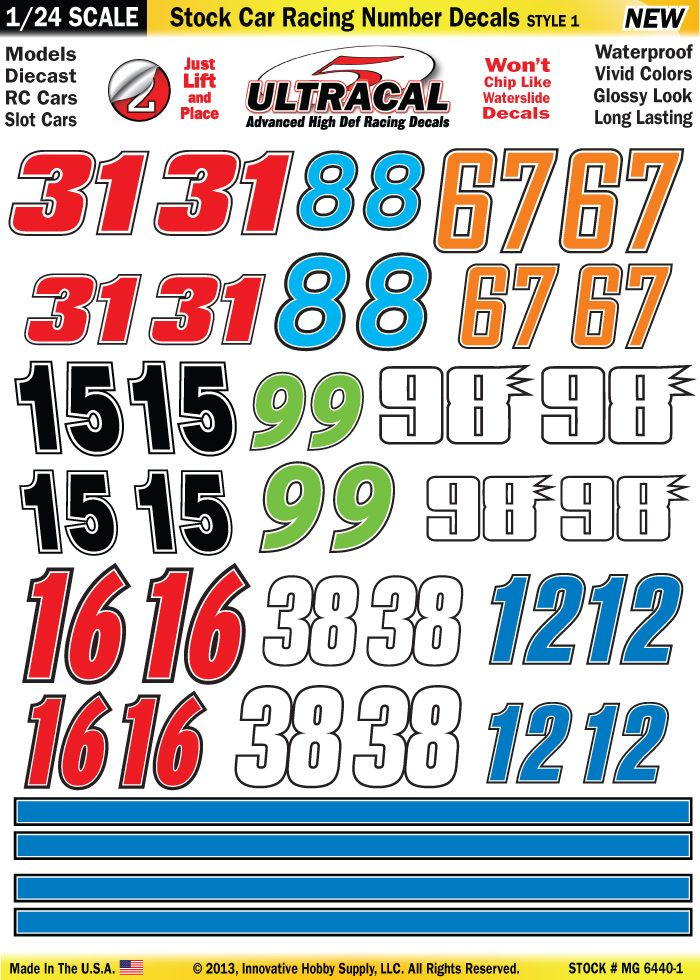 Ultracal slot car decals new 5x7 ultra high definition sheets ultracal brand slotcar decals are made from a strong yet thin film material