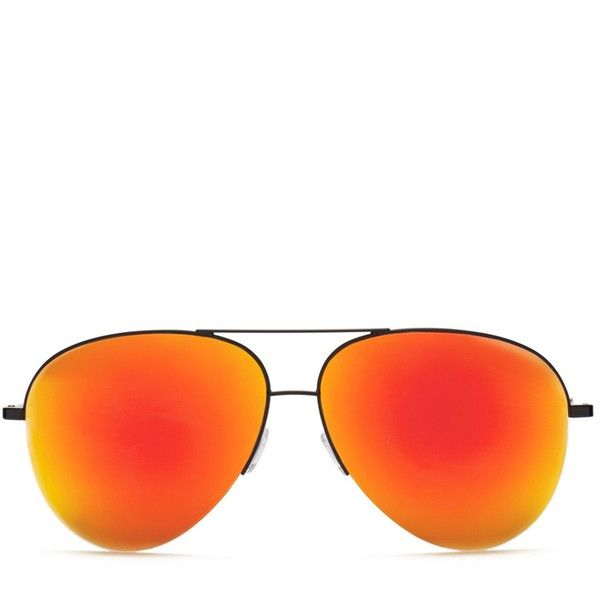 Classic Victoria Sunset ❤ liked on Polyvore featuring accessories, eyewear, sunglasses, aviator sunglasses, mirror glasses, mirrored sunglasses, mirror aviators and mirrored aviators