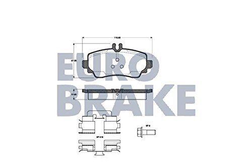 EUROBRAKE 5502223333 kit de plaquettes de frein, frein à disque: EuroBrake by/nK sBS kit 5502223333 vA * mm/épaisseur amidon 17 : * largeur…