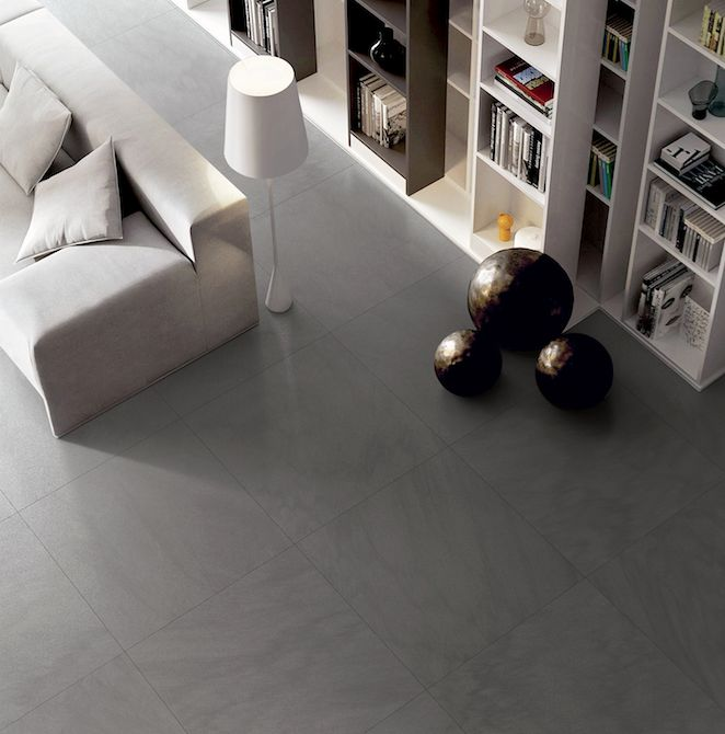 Coem - Silver Stone. This tile maintains the original color and texture of Bedonia, a compact Italian stone. @ceramichecoem #Cersaie2015