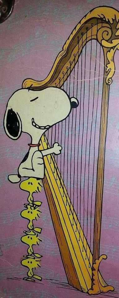 Harp playing