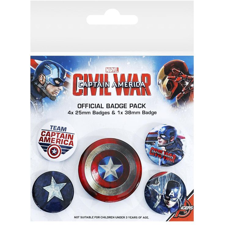 Captain America - Badge Set by Captain America Civil War