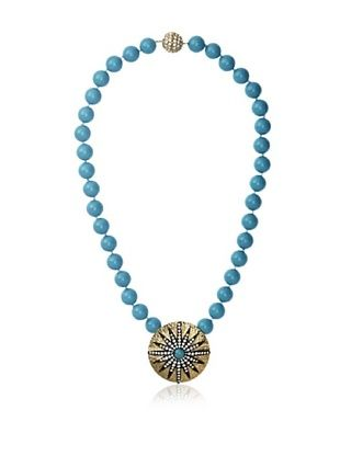 70% OFF CZ by Kenneth Jay Lane Turquoise Starburst Pendant