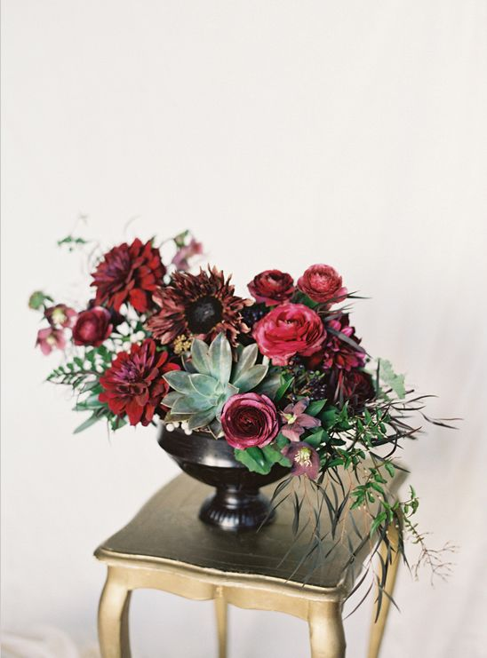 Luxurious floral centerpiece for a fall wedding