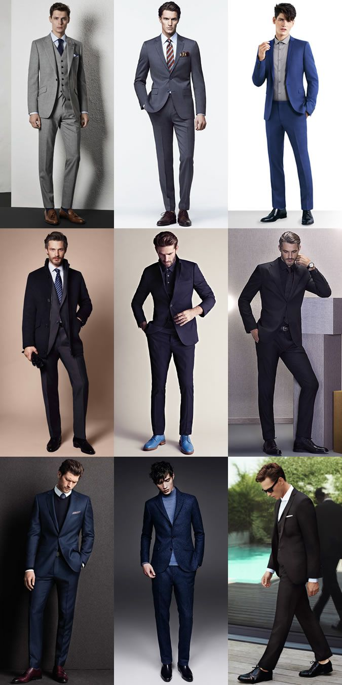 Contemporary Men's Trouser Lengths: Slim-Fitting with a Half or No Break Lookbook Inspiration