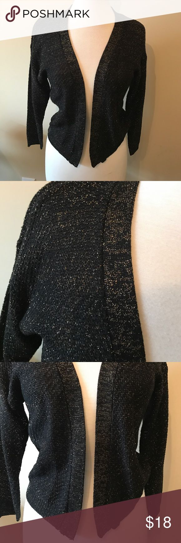 New - August Silk - black/gold cardigan New, never worn. Black and gold cardigan. Thin sweater material. Nothing ruined, no stains. No trades. august silk Sweaters Cardigans