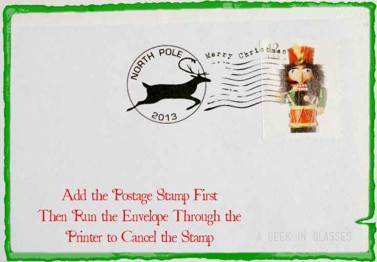 FREE Printable North Pole Envelope and free printable Santa Letter ...