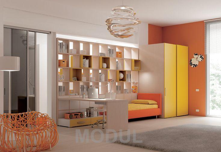 Подростковая спальня в солнечных красках Moretti Compact YC14young