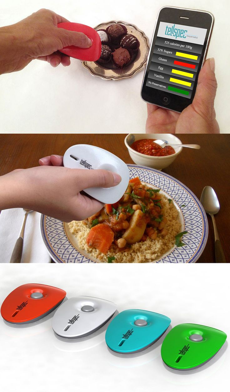 Scans food and tells you what is in it. Available August 2014. Cool story behind it. Read about it on Mashable.