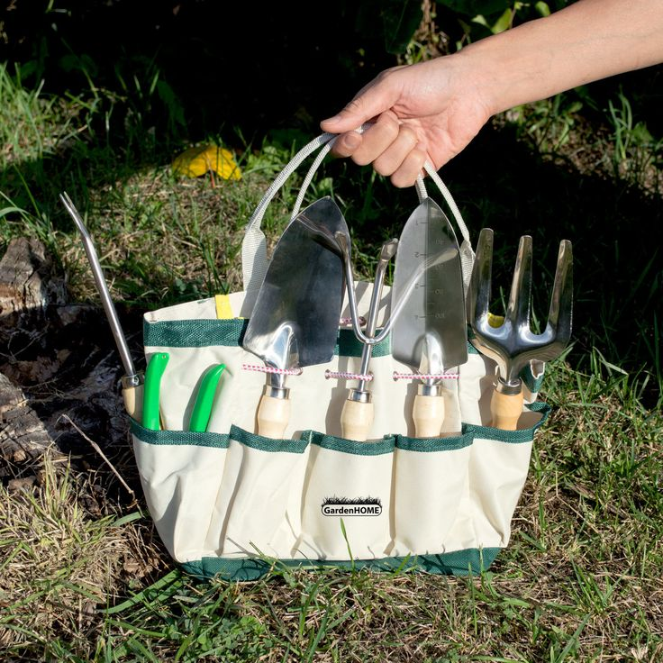 This six-piece master craft garden tool and tote set includes everything you need for those gardening and landscaping projects   Aspectek