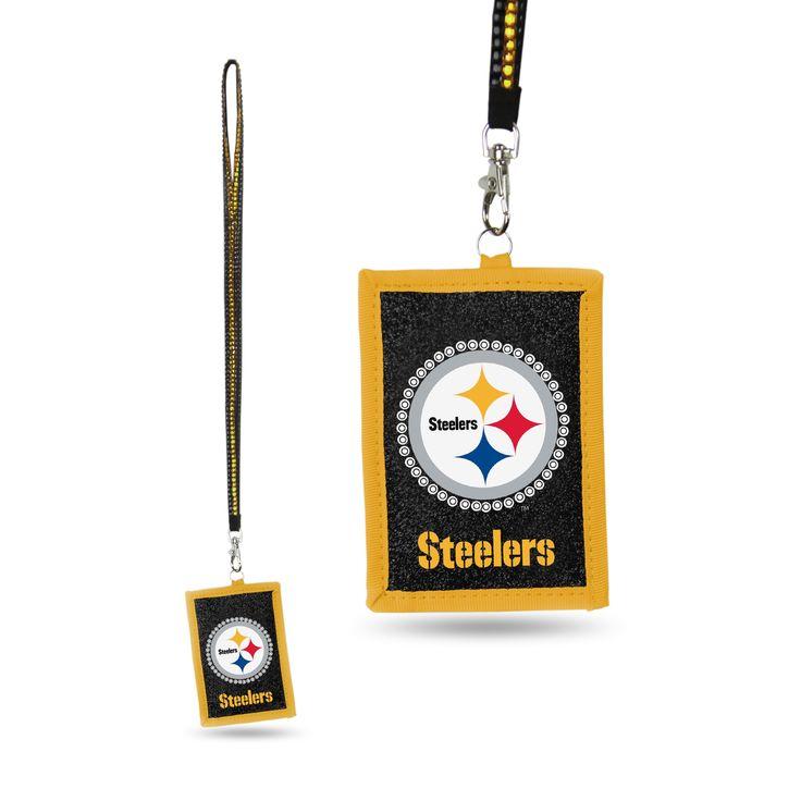 NFL Pittsburgh Steelers Lanyard Wallet, Adult Unisex